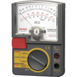 SANWA アナログ絶縁抵抗計 500V/250V/125V 三和電気計器(株) (PDM5219S) (423-9687)|tatsumax