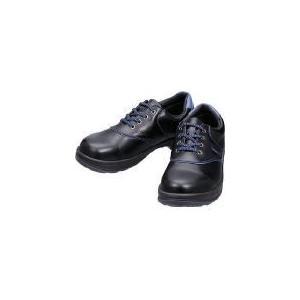 シモン 安全靴 短靴 SL11−BL黒/ブルー 23.5cm (株)シモン (SL11BL-23.5) (400-7271)