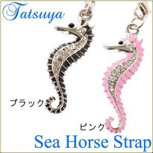 タツノオトシゴストラップ col.Black&Pink|tatsuya-fish