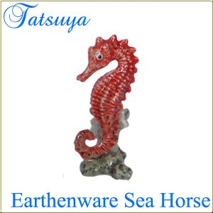 タツノオトシゴ オブジェ 陶器製 col.Red|tatsuya-fish