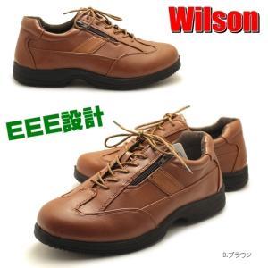 おすすめ!ゆったり幅広3E設計 Wilson 紳士カジュアルコンフォート ウォーキングシューズ ビジネスシューズ カジュアルウォーキング|tatsuya-shoes
