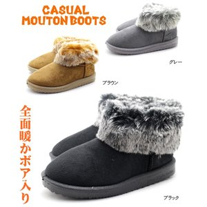 屈曲性抜群 レディース全面暖かボア入りムートンブーツ カジュアルブーツ|tatsuya-shoes