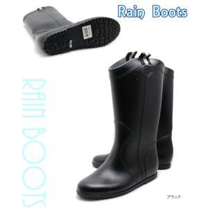 憂鬱な梅雨時事にも安心 レディースレインロングブーツ レイン レインブーツ 長靴 ロングレインブーツ|tatsuya-shoes