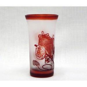 「令和」の文字入力可。新潟特産品 ガラスエッチング 名入れ松竹梅グラス-御所車 還暦祝や結婚祝などの贈り物に最適|tattan-sougouseikatu