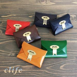 名刺入れ 本革 × 真鍮 カードケース 日本製 / clife greet  ラッピング無料 |tavarat
