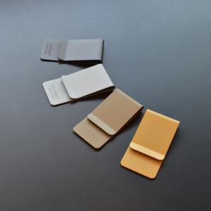 マネークリップ  メンズ ブランド 日本製 真鍮製 指紋がつかない ホーニング加工 / サンドブラスト加工 TAVARAT Tps-021 (ゆうパケット 送料無料)|tavarat