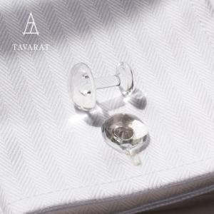 カフス 日本製 ガラス 半球型 フォーマル TAVARAT Tps-092 ラッピング無料|tavarat