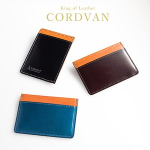 パスケース 定期入れ 本革 コードバン メンズ ICカード入れ 日本製 日本製 水染め (全2色) TAVARAT Tps-098  ラッピング無料 |tavarat