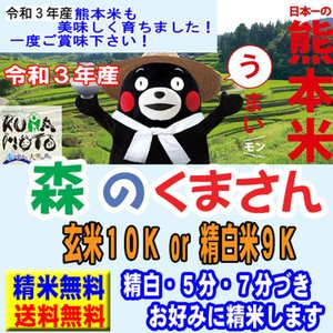 29年産 熊本県産 森のくまさん 10kg (5kg×2袋)...