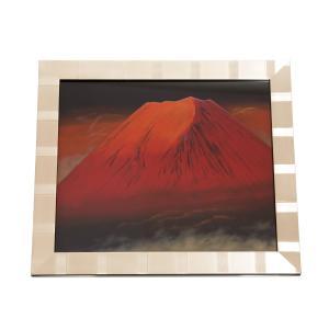 輪島塗漆芸額 赤富士|tayasikkitenn