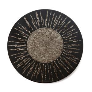 輪島塗 太陽の器 錫 丸皿 大皿 37cm 飾り皿 ギフト 贈り物|tayasikkitenn