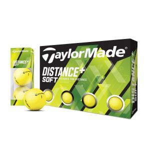 テーラーメイド(TaylorMade Golf) ディスタンス+ ソフト マットイエロー ボール/1...