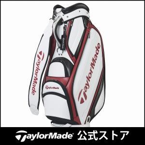 テーラーメイド(TaylorMade Golf) オーステック キャディバッグ/ホワイト/バーガンデ...