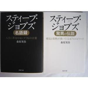 「スティーブ・ジョブズ名語録」「スティーブ・ジョブズ驚異の伝説」桑原晃弥の2冊セットです。文庫本