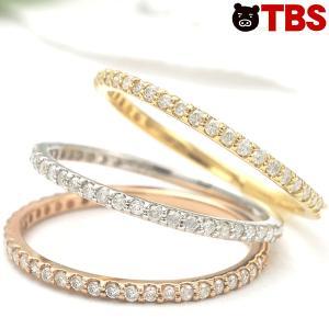 18金 合計 0.15ct ダイヤ エターナルリング / 指輪 ピンク イエロー ホワイト ゴールド 00839160001708250311【TBSショッピング】|tbsshopping
