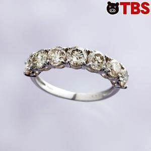 プラチナ 合計 2ct ダイヤ リング / ジュエリー レディース 指輪 ダイヤモンド 高級 宝石 / プレゼント にもおすすめ 00859440001809271982【TBSショッピング】|tbsshopping
