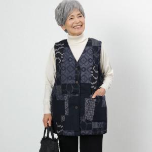 シニア服 80代 70代 60代 レディース 婦人服 高齢者 おばあちゃん 日本製 和柄 裏ボア 暖...