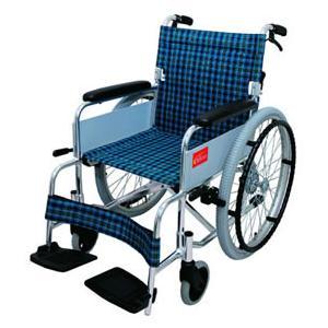 アルミ折りたたみ自走用車椅子パスポート車いす 送料無料   自走用 座幅