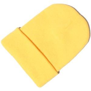 カラフル ニットキャップ ニット帽 イエロー シンプル無地 メンズ レディース 兼用|tc08ride
