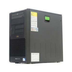 富士通 PRIMERGY TX100 S1 PGT1016H3 Pentium E5400 2.7GHz 2GB 160GBx2台(SATA3.5インチ/RAID1構成) DVD-ROM SATA RAID