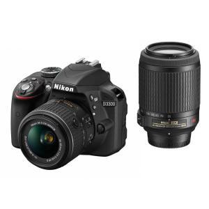 Nikon デジタル一眼レフカメラ D3300 ダブルズームキット ブラック D3300WZBK|tds-shop