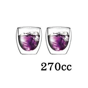 BODUM(ボダム) パヴィーナ(pavina) ダブルウォールグラス 270cc 2個セット 4558-10
