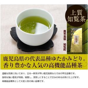人気の知覧茶。鹿児島県の代表品種ゆたかみどりを使用した上質茶葉です。