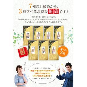 お茶 茶葉 敬老の日プレゼント ギフト 品種別に3個選ぶ 上級茶福袋 煎茶 知覧茶|tea-sanrokuen|02