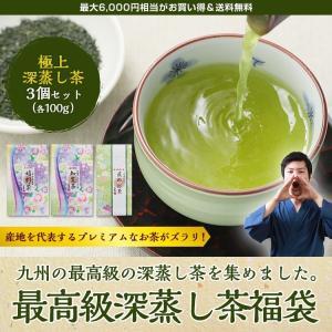 最高級茶福袋 お歳暮ギフト プレゼントにも 極上深蒸し茶 知覧茶 嬉野茶 熊本のお茶|tea-sanrokuen