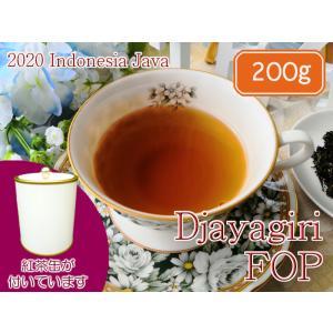 紅茶 ジャワ 茶缶付 ジャイアギリ茶園 FOP/2020 200g 茶葉 リーフ teachaichai