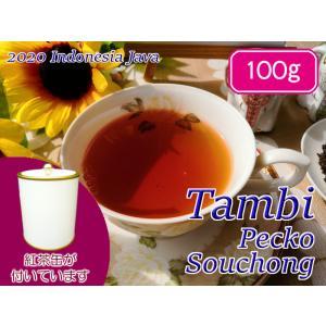 紅茶 ジャワ 茶缶付 タンビ茶園 Pecko Souchong/2020 100g 茶葉 リーフ teachaichai