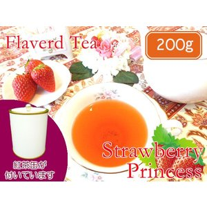 紅茶 茶葉 茶缶付 フレーバードティ ストロベリープリンセス 200g teachaichai