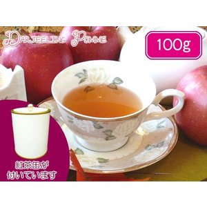 紅茶 茶葉 茶缶付 フレーバードティ ダージリンポム 100g teachaichai