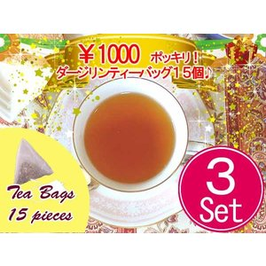 ポッキリ価格3セットお買得品 紅茶 ダージリンティーバッグ 15個 1000円ポッキリ|teachaichai