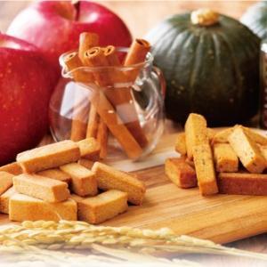 マクロビクッキー グルテンフリー ビスコッティ 硬い 米粉と米ぬかのビスコッティ かぼちゃあずき・アップルシナモン 米粉 米ぬか
