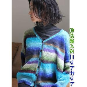 ●編み針セット●セーター 野呂英作のくれおぱとらで編むカーディガン 手編みキット 編み図 teamiohenya