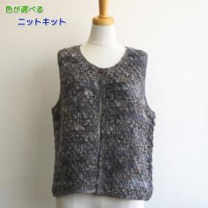 ●編み針セット●メイクメイクで編む玉編みのベスト 手編みキット オリムパス 編み図 teamiohenya