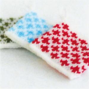 カフェキッチンで編む使いやすいスクエアタワシ ひし形模様 エコたわし 手編みキット ダルマ 横田毛糸 編み図|teamiohenya