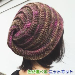 ●編み針セット●メイクメイクで編むかぎ針編みのねじり帽子 手編みキット オリムパス 編み図 teamiohenya