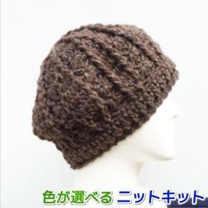 ●編み針セット●スターメで編むかぎ針編みの帽子 ハマナカ・リッチモア 手編みキット ニット帽 編み図 teamiohenya