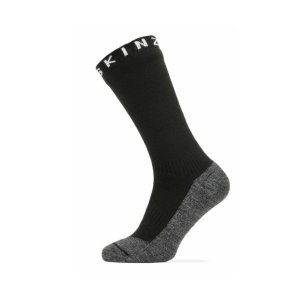 SEALSKINZ Waterproof Warm Weather Soft Touch Mid Length Sock Black/Grey Marl/White size-L 11100059090130 全国送料無料 │ソックス 靴下 Lサイズ|tech21