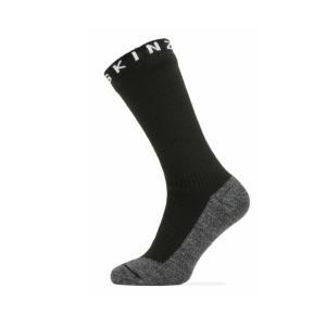 SEALSKINZ Waterproof Warm Weather Soft Touch Mid Length Sock Black/Grey Marl/White size-XL 11100059090140 全国送料無料 │ソックス 靴下 XLサイズ|tech21