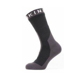SEALSKINZ Waterproof Extreme Cold Weather Mid Length Sock Black/Grey/White size-M 11100067090120 全国送料無料 │ シールスキンズ ソックス 靴下 Mサイズ|tech21