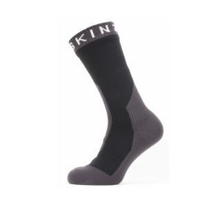 SEALSKINZ Waterproof Extreme Cold Weather Mid Length Sock Black/Grey/White size-XL 11100067090140 全国送料無料 │シールスキンズ ソックス 靴下 XLサイズ|tech21