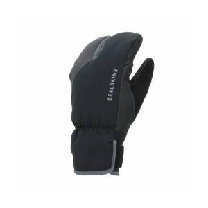 SEALSKINZ Waterproof Extreme Cold Weather Cycle Split Finger Glove Black/Grey size-L 12100062010110 全国送料無料│シールスキンズ グローブ 手袋 Lサイズ|tech21