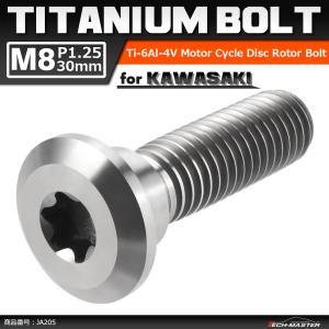 64チタンボルト M8×30mm P1.25 ブレーキディスク ローター ボルト カワサキ車用 KA...