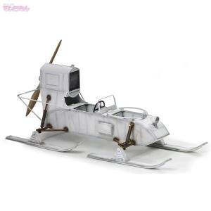 サイバーホビー 1/6 WW.II ソビエト軍 軍用スノーモービル アエロサン Rf-8/Gaz-98 プラモデル CH75044|techno-hobby-center