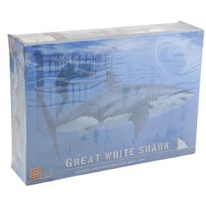 ペガサスホビー 1/18 海の最強ハンター ホホジロザメ w/ダイバー+ケージ プラモデル PH9501|techno-hobby-center