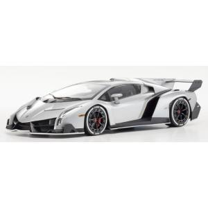 京商 1/18 OUSIA Lamborghini Veneno (グレー/ホワイトライン)ミニカー KSC09501GRW|techno-hobby-center