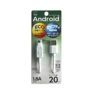 UCECO20W2016年04月 発売◆スマホの電池の寿命をのばすECO充電ケーブルです。 ◆過電流...